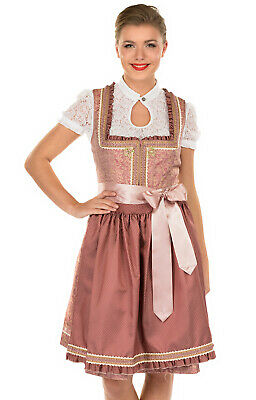 Krüger Dirndl Midi Dirndl 2 Parts Sleeping Beauty Rose 60cm