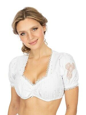 Stockerpoint Traditional Costume Dirndl Blouse B3025 White