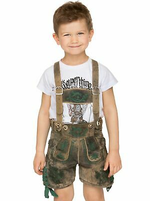 Stockerpoint Traditional Costume Children Leather Pants with Braces short Charly
