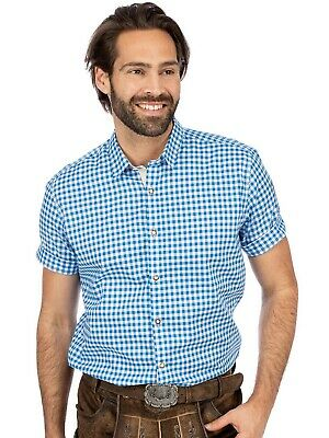 Stockerpoint Traditional Shirt Vichy short Sleeve Connor Azure