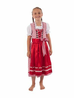Krüger-dirndl Children's Dirndl 3 Piece Incl. Blouse 41821-9 Red