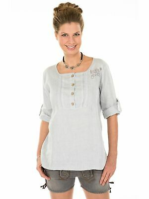 Traditional Costume Blouse Tunic Merida-T Light Grey