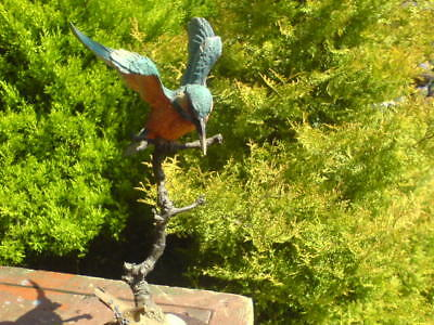 """'KINGFISHER' by WILLIS - COUNTRY ARTISTS - 1990 - 11"""" HIGH - METAL & CERAMIC"""