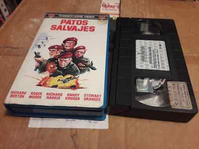 Patos Salvajes (The Wild Geese) VHS 70s Action War Adventure Classic