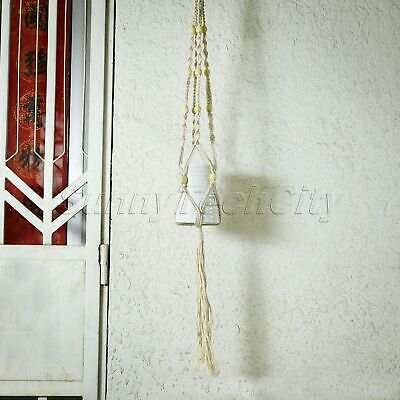 Vintage Plants Hanger Flowerpot Knotted Rope Pots Holder Braided Garden Basket