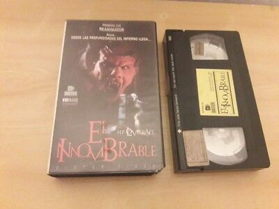 El Innombrable (The Unnamable) VHS 80s Horror Slasher Gore Lovecraft