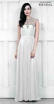 Catherine Deane Ivory Wedding Dress Mona 100% Silk