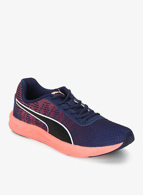664eda82bec942 New Puma Womens Comet Lapis Blue Coral Lace Up Running Trail Sneaker Shoes  11.5