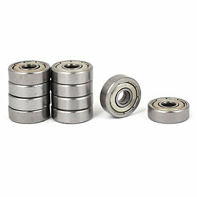 uxcell 5mm x 16mm x 5mm 625zz Metal Flanged Ball Bearing Silver Tone 10pcs