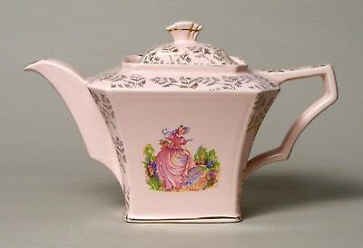 Attractive And Unusual Vintage Art Deco Sadler 'pinkie' Teapot