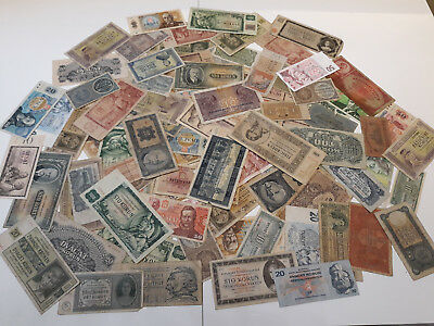 100 Pieces Banknotes From Czechoslovakia Mixed Grades&years!collection,lot N:2