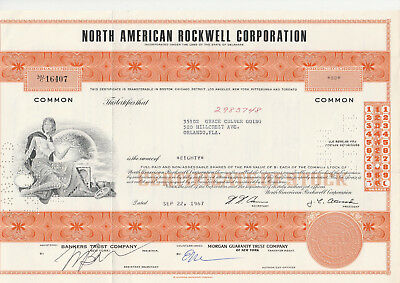 North American Rockwell Corp. 1967 orange