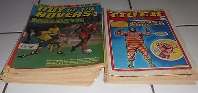 Lot Of Roy Of The Rovers & Tiger Comics 1980 .  29 Total .