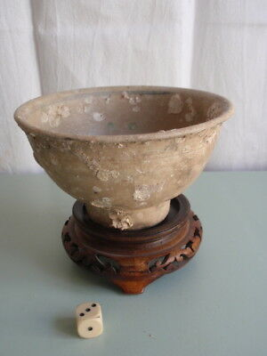 Vietnamese Hoi An Shipwreck Pottery Bowl Incrusted Plate  15 Century