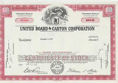 United Board & Carton Corp. 1968. rot