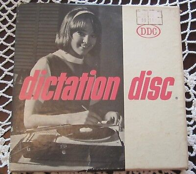 Vintage Vinyl 45RPM Shorthand Course Record Set DDC Dictation Disc Co Set 420
