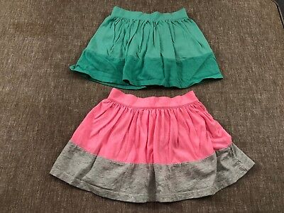 lot of 2 toddler girls OLD NAVY skirts size 4T pink gray green built in shorts