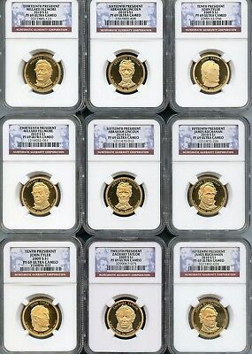 Mixed Lot Presidential Dollars (9 Pieces) NGC PF69 Ultra Cameo (As Pictured) 105