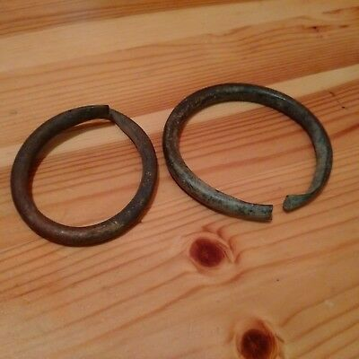 Beautiful European Bronze Celtic Ring Coins 2500-1500 Bc