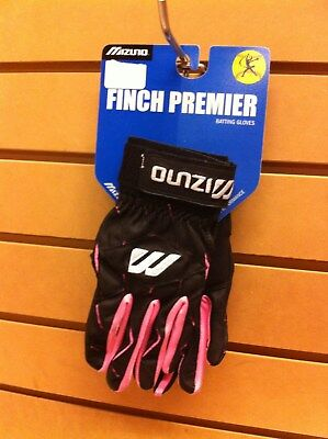 Mizuno Finch Premier Batting Gloves Women's Adult Large Pink/Black MAKE OFFERS