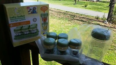 Magic Bullet BABY BULLET STORAGE SYSTEM **7 pieces** NEW, NOT USED IN OPENED BOX