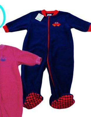 Baby Boys Fleece Winter Sleep Suit by Baby Love Blue With Red Trim New with Tags
