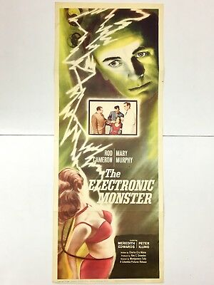 The Electronic Monster Original 1960 Classic Sci Fi  Movie Poster Insert 14X36