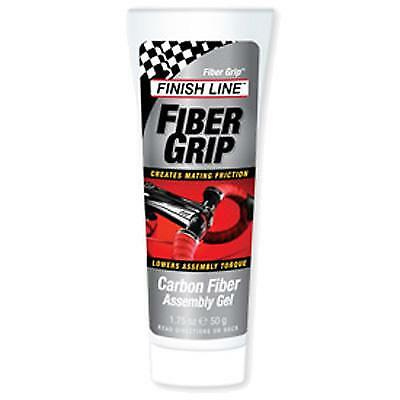 Finish Line Fiber Grip Carbon Fiber Bicycle Assembly Gel - 1.75oz/50g Tube -