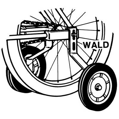 Wald 16 to 20 inch Steel Bicycle Training Wheels - Pair - #252