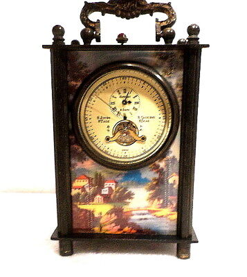 Panel Side Designed Mechanical Carriage Clock With Sweep Seconds Hand