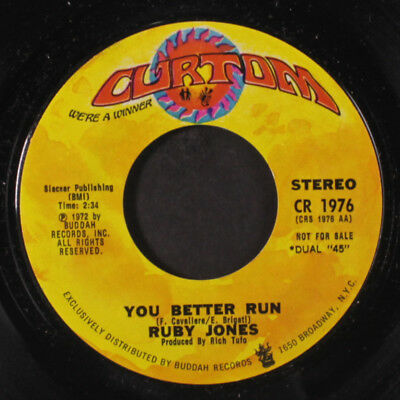 RUBY JONES: You Better Run / Mono 45 (dj) Soul