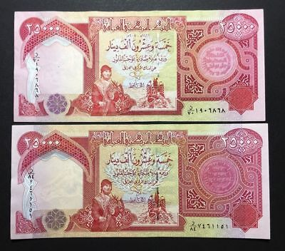 25,000 Iraqi Dinar (1) 25000 Note Uncirculated!! Authentic! (Iqd)