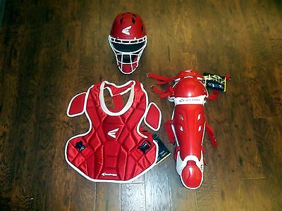 "Easton Mako Fastpitch Women's Catcher's Gear Set NEW Red/White CP:15"" SG:15.5"""