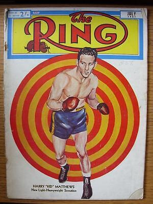 Jul-1951 The Ring Boxing Magazine: (Creased, Worn, Small Rips/Nicks, Piece Missi