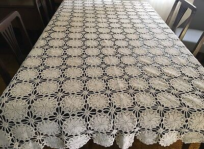 CROCHET Beige, Rectangular Tablecloth 140x200cm - Lovely Con