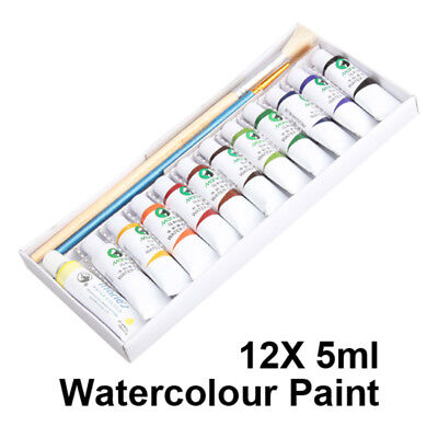 Top Art Water Colour 12 Tubes of 5ml Watercolour Paint F