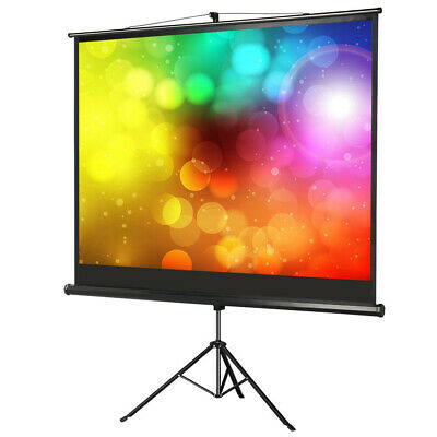 """84"""" HD Portable Tripod Projector Screen For All Purpose Screen Use with Stand"""