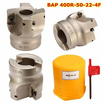 BAP 400R-50-22-4F Indexable Face Milling Cutter 4Flute End Mill for APKT1604APMT