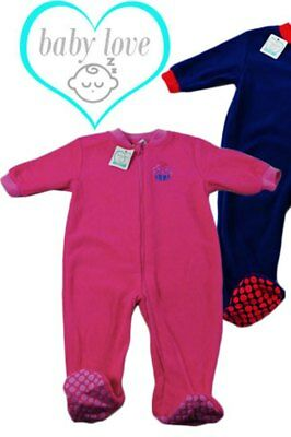 Baby Girls Fleece Winter Sleep Suit by Baby Love Pink  New with Tags