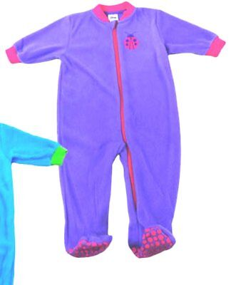 Baby Girls Fleece Winter Sleep Suit by Baby Love Purple  New with Tags