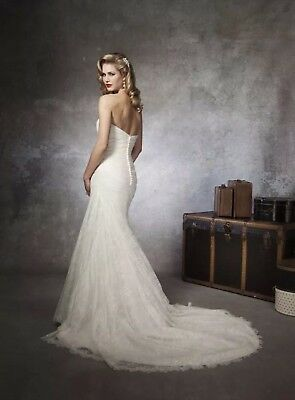 Justin Alexander lace wedding dress size 12/10