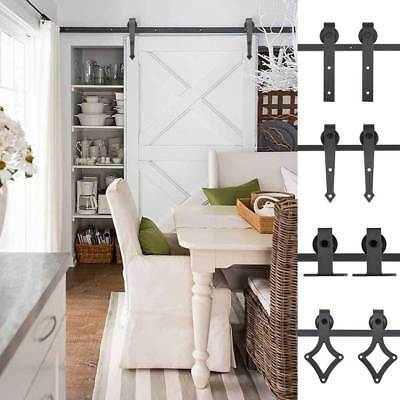 Sliding Barn Door Hardware Set - 1.83/2m Interior Closet Home No Joint Track Kit
