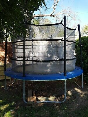 Vuly 10ft Round Trampoline with Safety Net Enclosure & Tent
