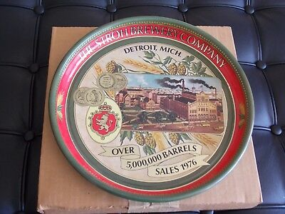 Stroh's Detroit Mich- vintage metal tray in the original shipping box-- Mint