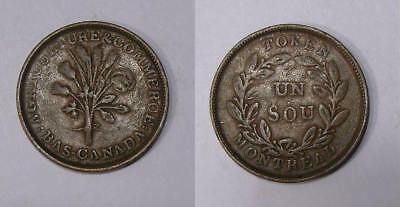 Montreal Sou Lustrous Vf/xf High Grade For This Inv#334-1