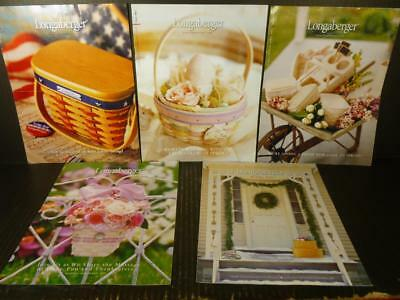 5 Longaberger Catalogs Flyers Brochures 2001 P676