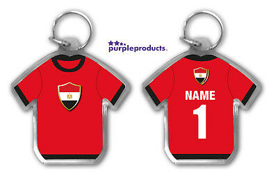 Personalised EGYPT 2018 World Cup Football Team Supporters Keyring