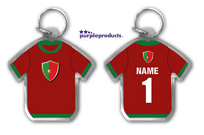 Personalised PORTUGAL 2018 World Cup Football Team Supporters Keyring