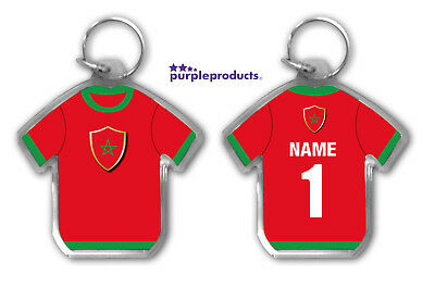 Personalised MOROCCO 2018 World Cup Football Team Supporters Keyring