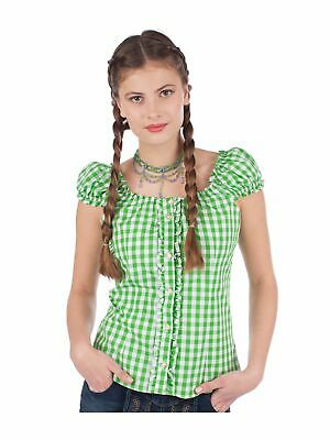 Almsach Traditional Costume Blouse 262-CO Block Check Apple